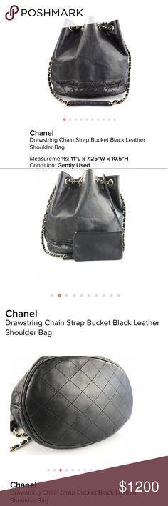 da5177297682 CHANEL DRAWSTRING HANDLE BUCKET BAG Please read the item description for  the details in pictures. Chanel HandbagsChanel BagsBucket ...