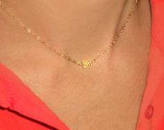Opal Choker Necklace Gold Choker Tiny Stone by BabelfishJewelry