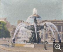 Charles LACOSTE (1870-1959), Fontaine, place de la Concorde, 1931, huile sur toile, 46 x 55 cm. © MuMa Le Havre / Charles Maslard