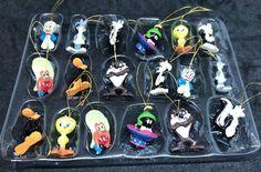 18 Mini Tiny Looney Tune Ornaments Marvin Martian Taz Yosemite Bugs Daffy Tweety  | eBay