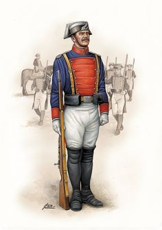 Civil Guard in a Gala Uniform The Spanish American War, Total War, Medieval Clothing, Cold War, Military History, Civilization, Captain America, Army, Batman