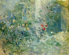 The Garden at Bougival. Berthe Morisot was a French painter, member of the Impressionism movement. She married Eugène Manet, who was a brother of Édouard Manet. Pierre Auguste Renoir, Edouard Manet, Canvas Wall Art, Wall Art Prints, Oil On Canvas, Canvas Prints, French Impressionist Painters, Berthe Morisot, Mary Cassatt