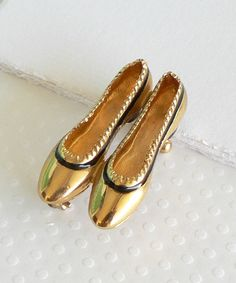 Vintage Ferragamo Shoes Brooch with Original Box and Pouch. $265.00, via Etsy.