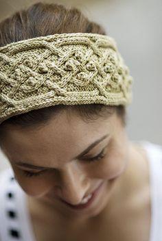 NobleKnits.com - Tanis Gray Finch Cabled Headband PDF Knitting Pattern, $5.95