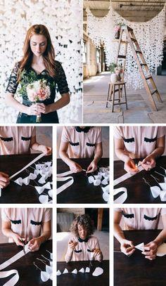 DIY Wax Paper Backdrop   15 DIY Wedding Ideas on a Budget
