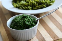 Five-ingredient Kale Pesto. I actually got off my butt & made this, it is delicious!