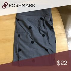 Lularoe OS leggings Adorable, gray with black polka dots all over.. just not my style. These were only tried on, for about 5 seconds. LuLaRoe Pants Leggings