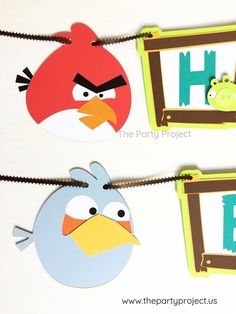 Make your Angry Birds birthday party as fun as the game with this exclusive  banner!