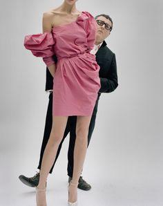 ALBER ELBAZ & HIS PINK LANVIN DRESS,  PARIS, FRANCE, 2009  VANITY FAIR  Tim Walker Photography