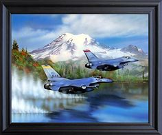 Impact Posters Gallery Aircraft Picture Art Print Framed Wall Decor Military Over Water Painting Jet Aviation Espresso Poster Black Framed Art, Framed Wall Art, Framed Art Prints, Poster Prints, Posters, Poster Wall, Wall Decor Pictures, Print Pictures, Water Frame