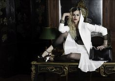 Alice Dellal's Chanel Boy Ad! boyish hoody, torn stocking, full skirt...Gives the brand a fresh, modern perspective...