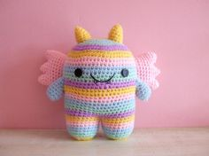 Cutesie Monsters - Crocheted Plush Amigurumi Doll Birthday Gifts Cute Baby Toys on Etsy, £13.45