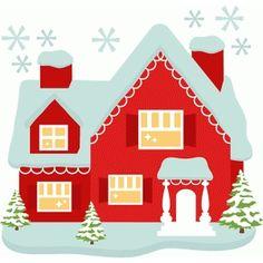 Silhouette Design Store - View Design #70987: santa's house