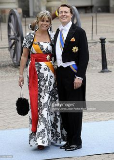 Princess Laurentien And Prince Constantijn Of Holland At The Wedding Of Crown Princess Victoria Of Sweden And Daniel Westling At Stockholm Cathedral.