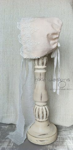 vintage bonnet - cute for newborn photo