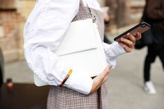 How To Wear The Street Style Trend for White Blouses   British Vogue