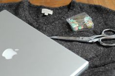 Sweater Laptop Sleeve: Repurpose your old sweater into a Laptop Sleeve.