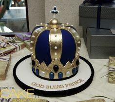 A Crown Cake for one of the little prince's in my life. #baking #dessert #NoveltyCake