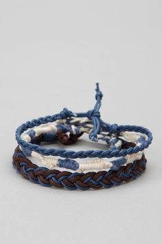 FUN! Friendship Bracelet - Pack of 3 Online Only via Urban Outfitters: http://m.urbanoutfitters.com/mobile/catalog/productdetail.jsp?id=23933583=MENS