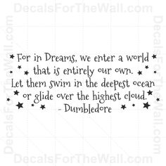 Dumbledore Harry Potter Wall Decal Vinyl Art Sticker Quote Decoration Saying B66 | eBay