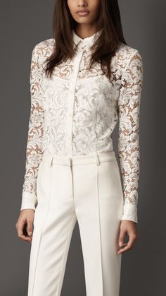 Burberry London effortless lace shirt