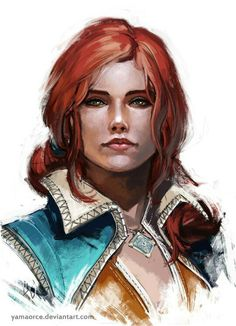 Triss http://the-witcher.tumblr.com/tagged/Geralt-of-Rivia