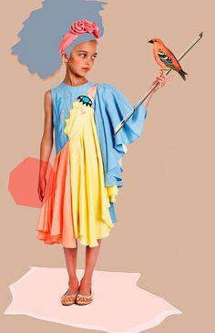 Shan and Toad - Luxury Kidswear Shop - Raspberry Plum Singer Multicolor Dress Stylish Tops For Women, Trendy Kids, Stylish Kids, Cool Kids Clothes, Diy Clothes, Toddler Fashion, Kids Fashion, Kid Styles, Zara
