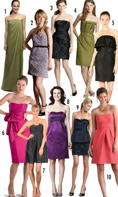bridesmaids - I like the coral color of #10