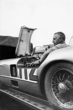 1955 .. Targa Florio - Mercedes-Benz 300 SLR , driven by Fangio / Kling , finished 2nd