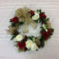 Christmas Wreath for Front Door, Wreath for Christmas, Winter Wreath, Large Wreath for Door by TheBayWindowFlorist on Etsy Christmas Wreaths For Front Door, Door Wreaths, Etsy Wreaths, Doors, Holiday Decor, Winter, Handmade Gifts, Vintage, Home Decor