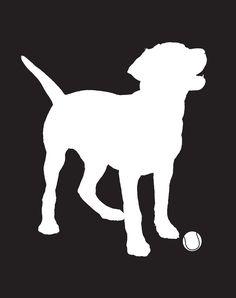 Labrador Portrait Custom Color Background (8x10) Modern Pet Silhouette. $15.00, via Etsy.