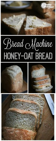 Homemade Honey Oatmeal Bread (Bread Machine Bread Machine Honey-Oat Bread: soft, fluffy and absolutely delicious, and you make this bread, start to finish, in your bread machine – Happy Hooligans Oat Bread Recipe, Honey Oat Bread, Bread Maker Recipes, Oatmeal Bread, Baking Recipes, Breadmaker Bread Recipes, Bread Machine Recipes Healthy, Healthy Homemade Bread, Easy Recipes