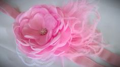 Beautiful pink flower bloom  vintage headband by OhhSoChicBowtique, $15.50