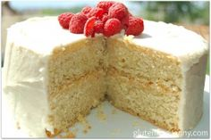Gluten Free Vanilla Birthday Cake | Glutenfree-jenny.com