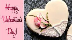 Beautiful Valentine's Rose Cookie