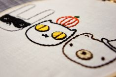 Hooray for Halloween! Just a couple days left till the big day and I wanted to share some holiday embroidery with you. They're great for...