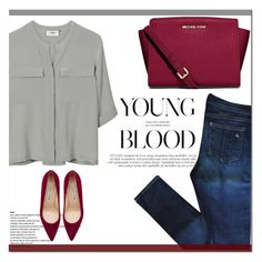 """""""Young Blood"""" by angel-with-shotgun ❤ liked on Polyvore featuring PYRUS, rag & bone, Manolo Blahnik and MICHAEL Michael Kors"""