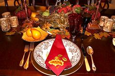 Decoration Modern Home Country Thanksgiving Table Setting With ...