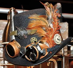 Custom Order Steampunk Top Hat with Goggles by EyeFullProductions, $125.00  LOVE LOVE LOVE THIS!!!!