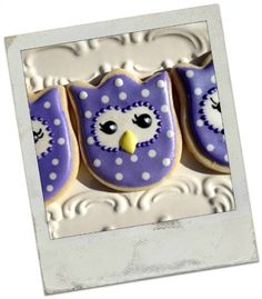 Decorated+Owl+Sugar+Cookies+by+TheCookieFairie+on+Etsy,+$28.00