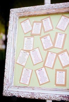 Wedding Seating Chart Ideas on Wedding Ideas   Escort Card Ideas   Easy  Diy Displays