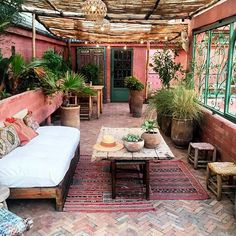 Patio Wall Ideas outside room covered patio.Pergola Patio Interno patio privacy how to build. Home, Bohemian Patio, House Design, Home And Garden, Outdoor Decor, New Homes, Outdoor Living Rooms, Bohemian Garden, Outdoor Living