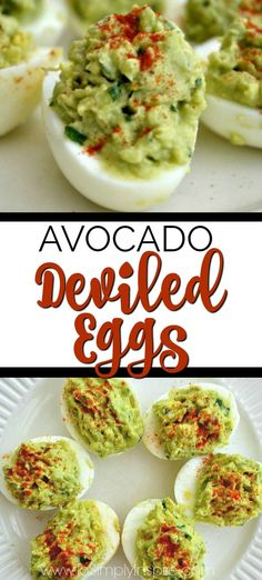 These deviled avocado eggs are an amazing healthy alternative to traditional dev. These deviled avocado eggs are an amazing healthy alternative to traditional deviled eggs. Healthy Diet Recipes, Healthy Meal Prep, Healthy Snacks, Healthy Eating, Cooking Recipes, Easy Avocado Recipes, Avocado Ideas, Keto Recipes, Brunch Recipes With Avocado