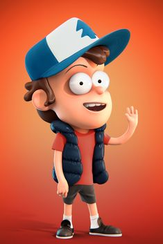 """A quick tribute to the """"Gravity Falls"""" animated series hero Dipper Pines. I wanted to make him as close as possible to the original, with the exception of materials, perhaps. The character is fully animation ready and features a custom in 3ds Max rig. Feel free to watch Rig Showcase here: https://youtu.be/qwR9M9TyTn8 Hope you like it!"""