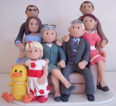 60th Birthday topper - whole family scene