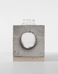 The Invariants Collection | Concrete and Glass Vases by Sergey Makhno