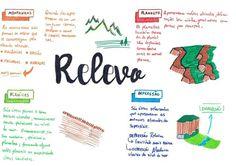 Mapa Mental de Biologia : Relevo Mental Map, Study Organization, Study Planner, Lettering Tutorial, Study Inspiration, Studyblr, Study Notes, School Hacks, Student Life
