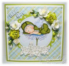 LO LO: Magnolia Sleeping Baby Boy Card