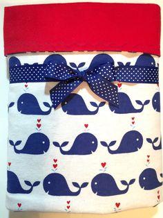 Flannel Baby Blanket - Nautical Baby Blanket - Receiving Blanket - Baby Boy Blanket - Cot Blanket - Crib Blanket - Baby Girl - Whale Blanket by BeastiesBabies on Etsy