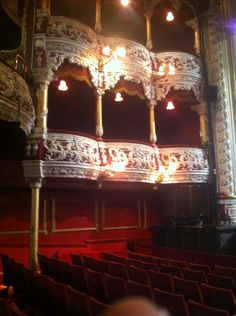 Olympia Theatre boxes, Dublin , Ireland. OutlawPhotography Dublin Ireland, Olympia, Theatre, Irish, Boxes, Chandelier, Photoshoot, Ceiling Lights, Home Decor